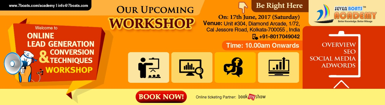 Digital Marketing Workshop in Kolkata by Seven Boats Academy