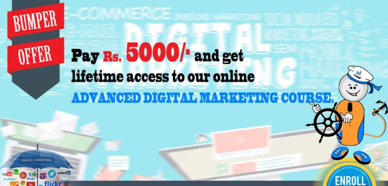 Discount offer on online digital marketing course from Seven Boats Academy