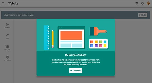 google launches website builder in google places for business