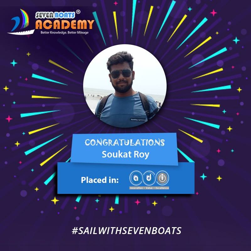 soukat placed sfter completion of digital marketing course from seven boats academy