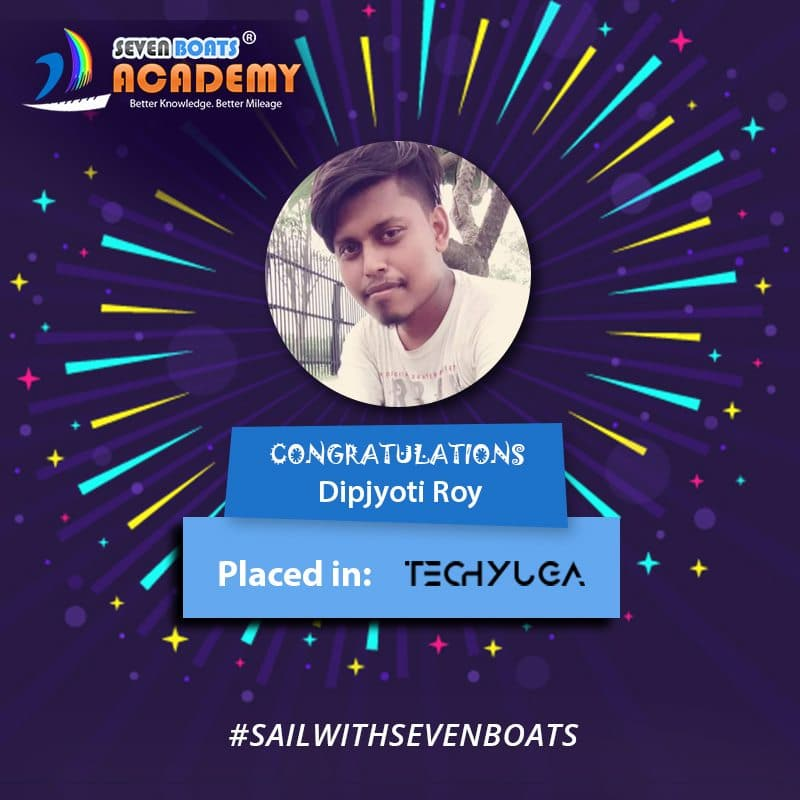 Dipjyoti Roy placed from Seven Boats after digital marketing course