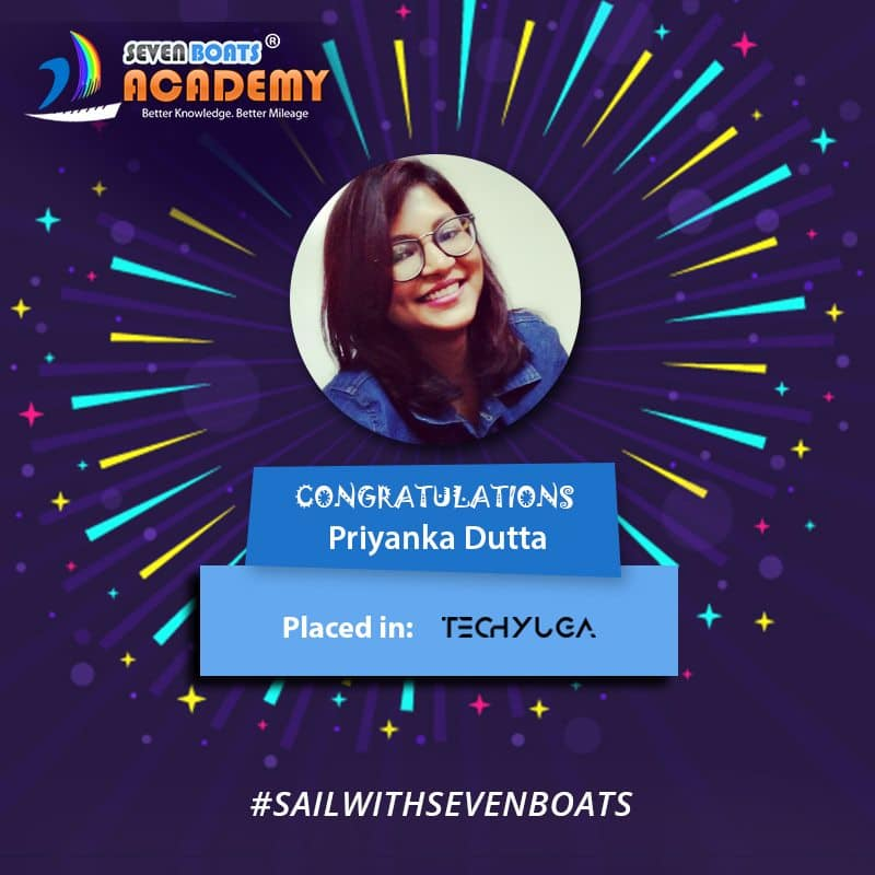 Priyanka Dutta Digital Marketing Job Placement from Seven Boats Academy