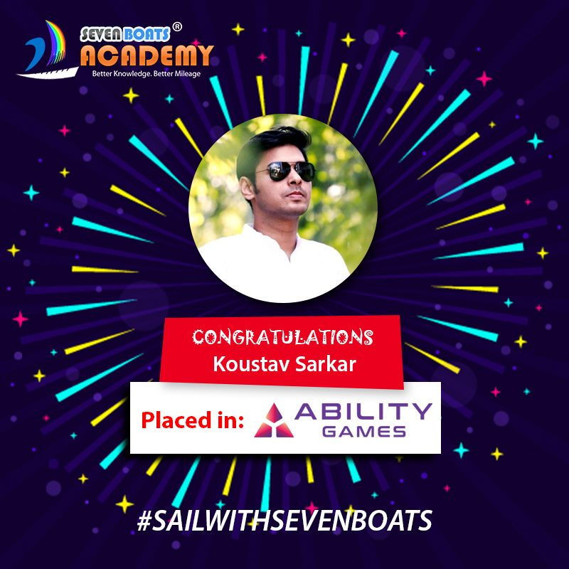 kaustav - digital marketing placement from 7boats academy