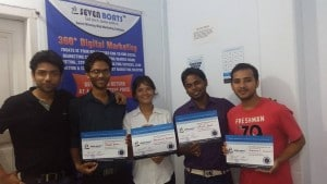 Seven Boats Academy - Students getting certificates after digital marketing course completion