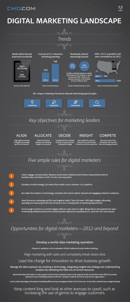 Digital Marketing landscape infographic
