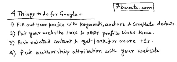 Things to do with Google plus for the best result