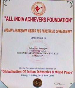 Awarded by All India Achievers Foundation