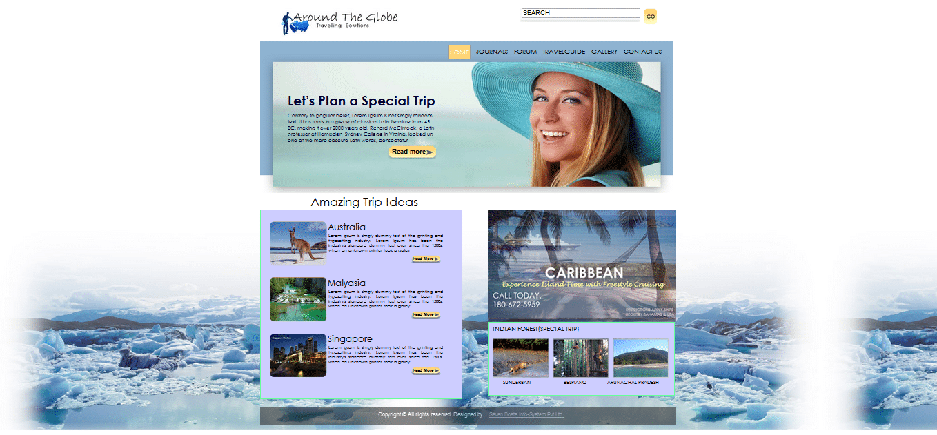 Free Travel Html Template Clean Simple Website
