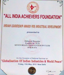 India-Leadership-Award-For-Industrial-Development2012-Debajyoti-Banerjee_7boats-info-system