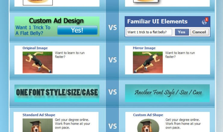 facebook ad design tips - infographic
