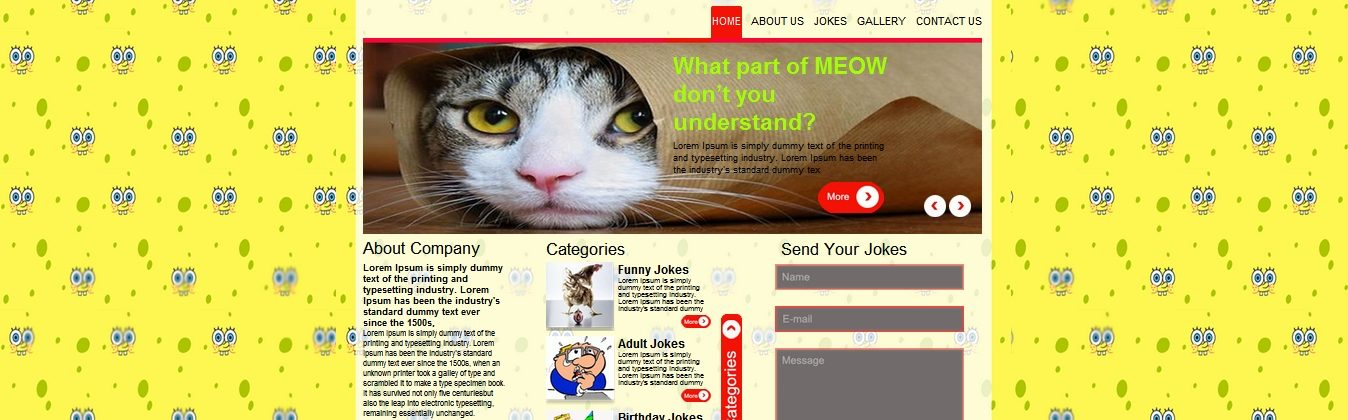 Download free jokes website template