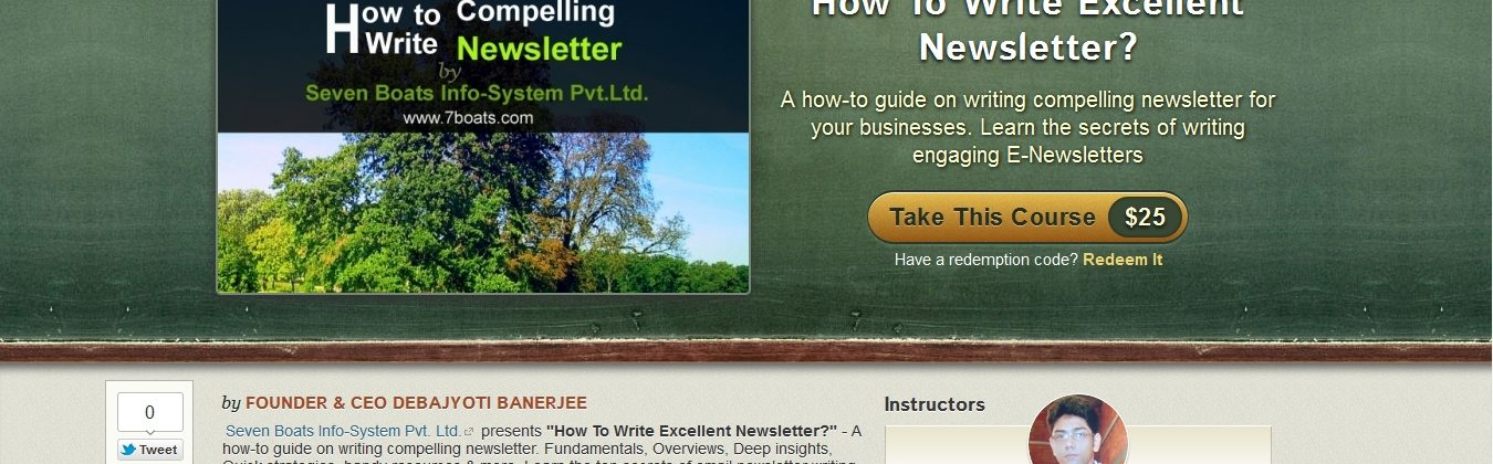 newsletter writing course