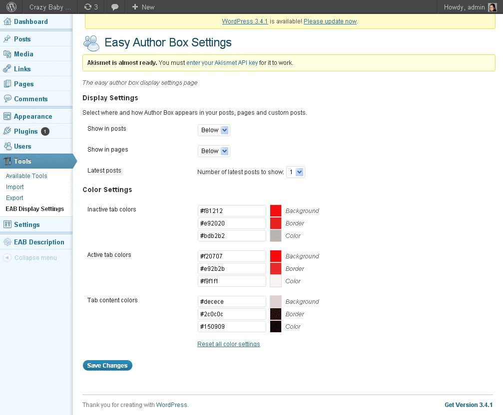 Easy Author Box Wordpress Plugin 3