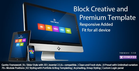 Block template Joomla