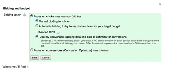 adwords bidding and budget