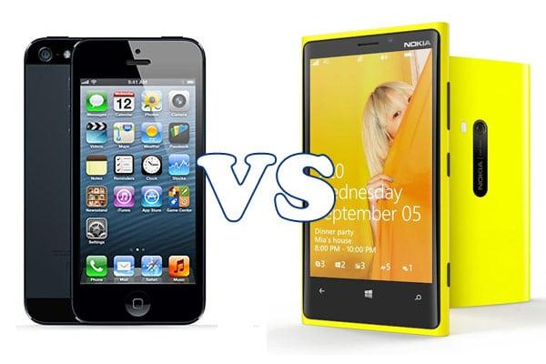 apple iphone 5 vs lumia 920
