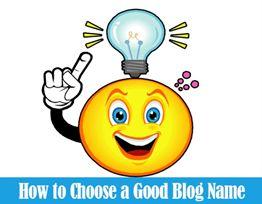 good blog name