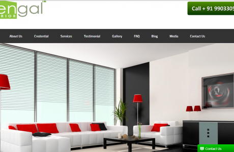 Web development of bengal interior by Seven Boats