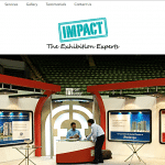 Website designing for Exhibits Impact