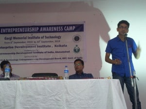 "Entrepreneurship Awareness Camp"" under DST-NIMAT Project conducted by Enterprise Development Institute"