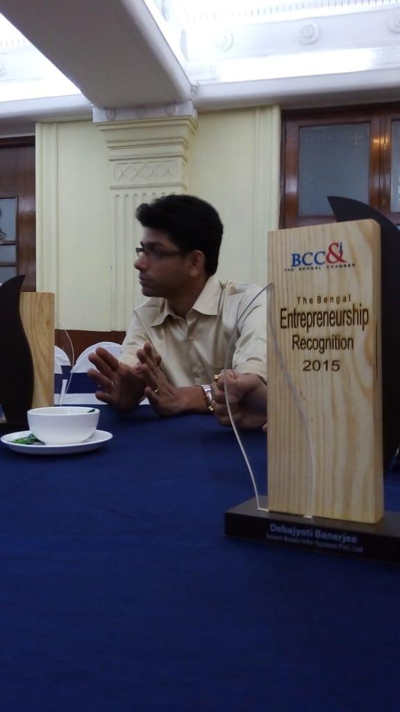 Seven Boats received Bengal Entrepreneurship Recognition 2015 - BCC&I