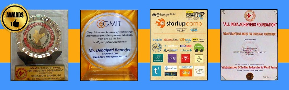 Awards & Recognition of Seven Boats - IIT, Bengal Chamber, GMIT, United World, Indian Leadership Award & more