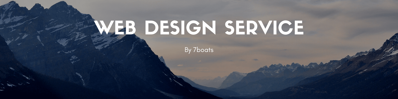 Web Design Service by 7boats
